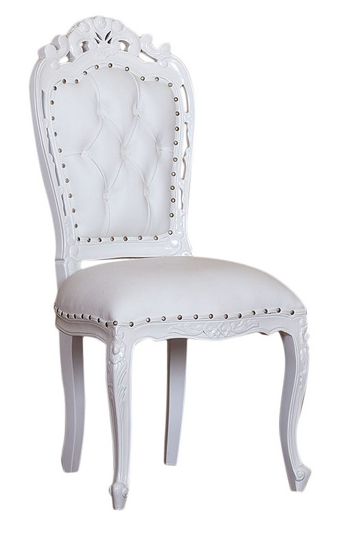 chaise baroque design chaise bureau blanc blanc baroque design tables de en open space shelley. Black Bedroom Furniture Sets. Home Design Ideas