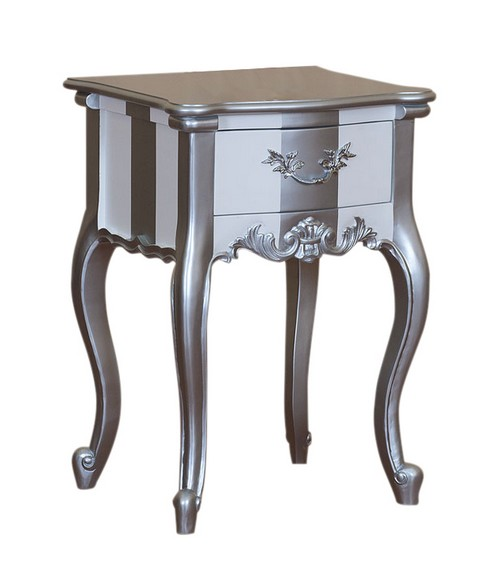 Mobilier baroque chevet - Table de chevet baroque blanche ...