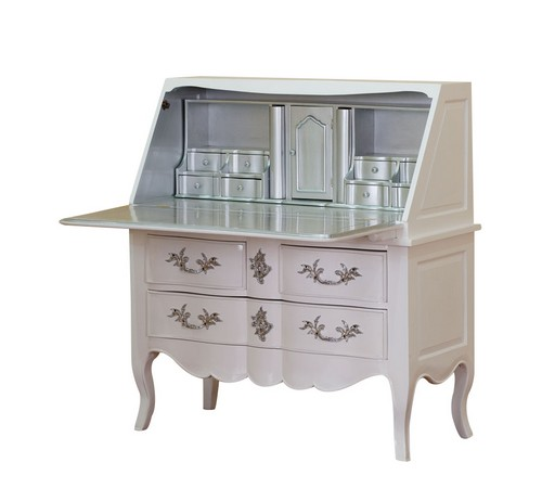 commode secretaire blanc