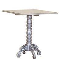 TABLE BAROQUE RIVA ARGENT