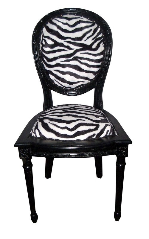chaise baroque zebre. Black Bedroom Furniture Sets. Home Design Ideas