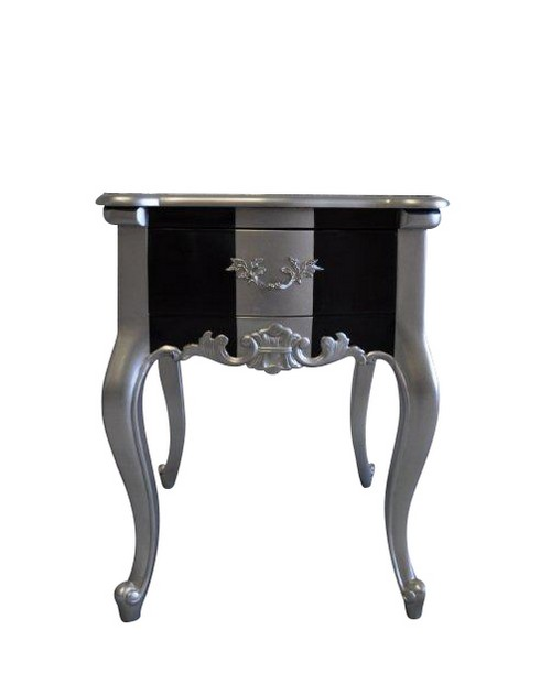pin table de nuit chevet commode baroque en bois dor avec. Black Bedroom Furniture Sets. Home Design Ideas