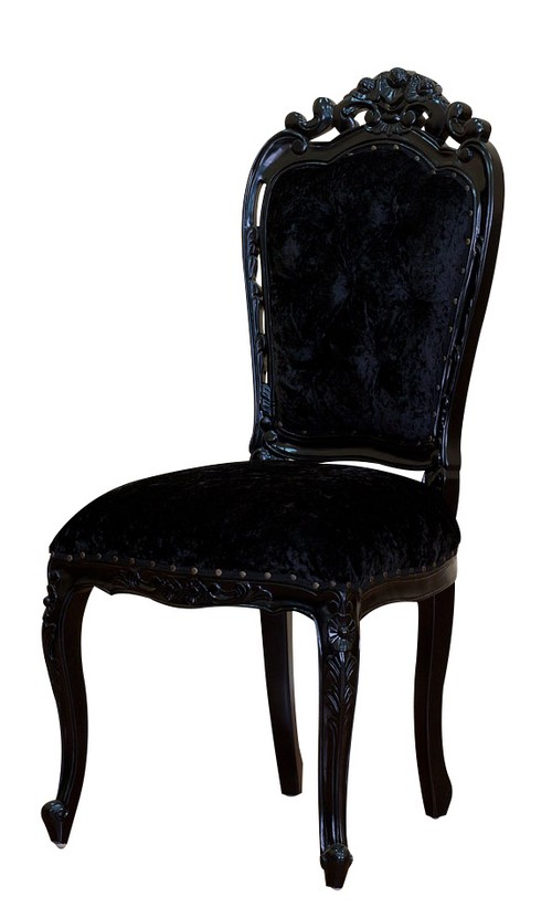 chaise baroque velour. Black Bedroom Furniture Sets. Home Design Ideas